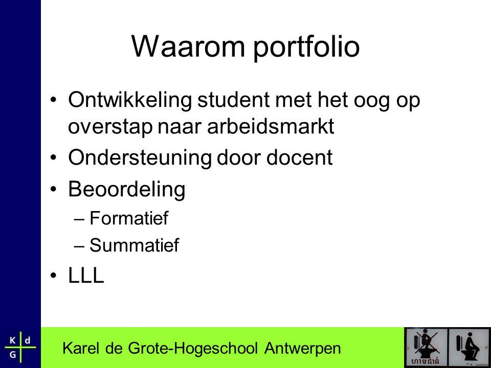 Waarom portfolio Ontwikkeling student met het oog op overstap naar arbeidsmarkt. Ondersteuning door docent.