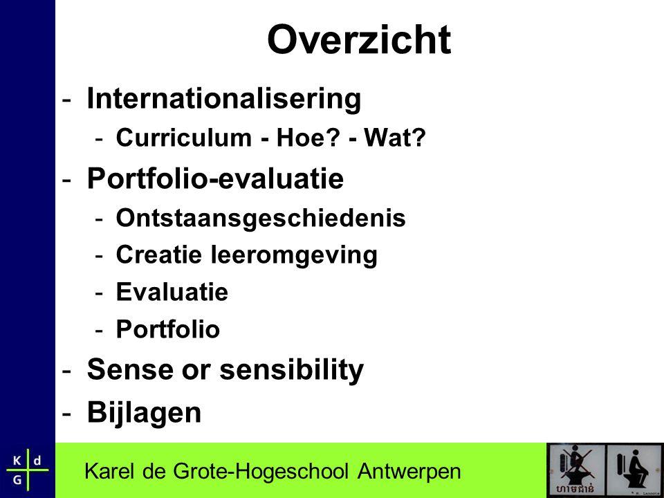 Overzicht Internationalisering Portfolio-evaluatie
