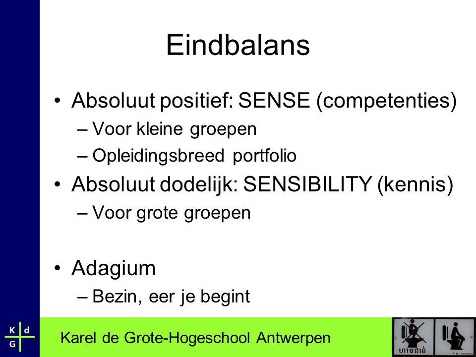 Eindbalans Absoluut positief: SENSE (competenties)