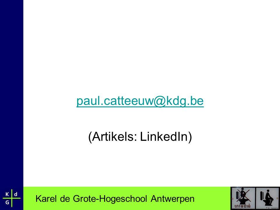 paul.catteeuw@kdg.be (Artikels: LinkedIn)