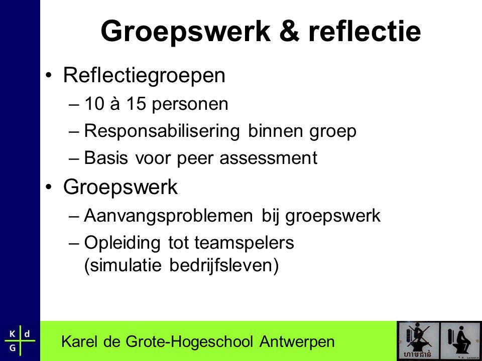 Groepswerk & reflectie