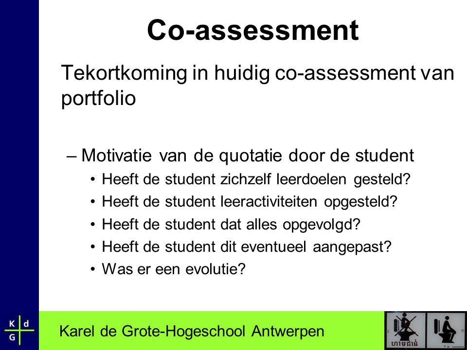 Co-assessment Tekortkoming in huidig co-assessment van portfolio