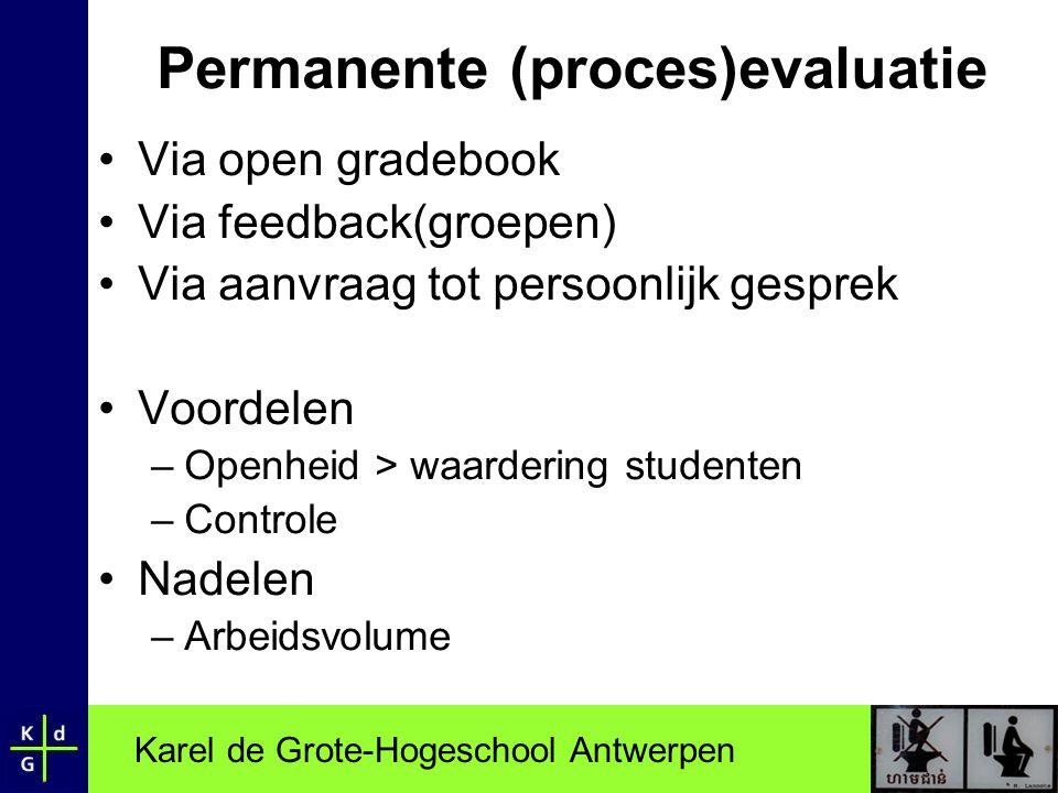 Permanente (proces)evaluatie