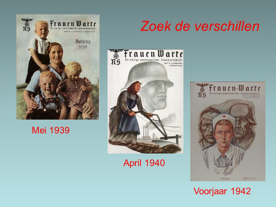 Zoek de verschillen Mei 1939 April 1940 Voorjaar 1942
