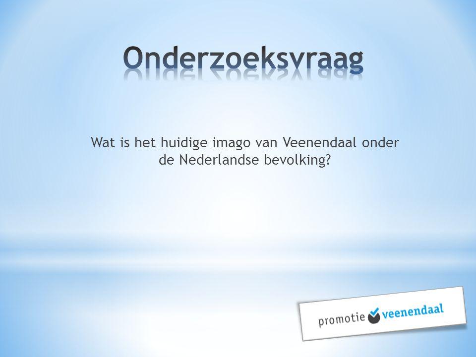 Onderzoeksvraag Wat is het huidige imago van Veenendaal onder de Nederlandse bevolking