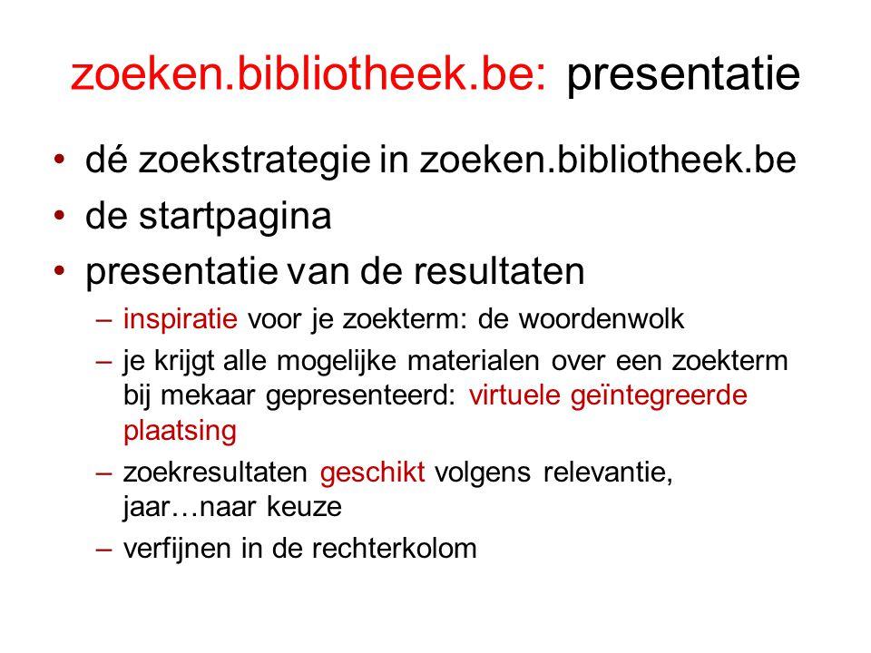 zoeken.bibliotheek.be: presentatie