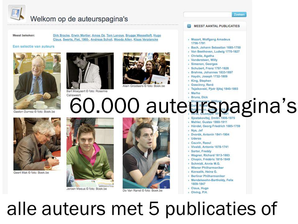 alle auteurs met 5 publicaties of meer in Open Vlacc