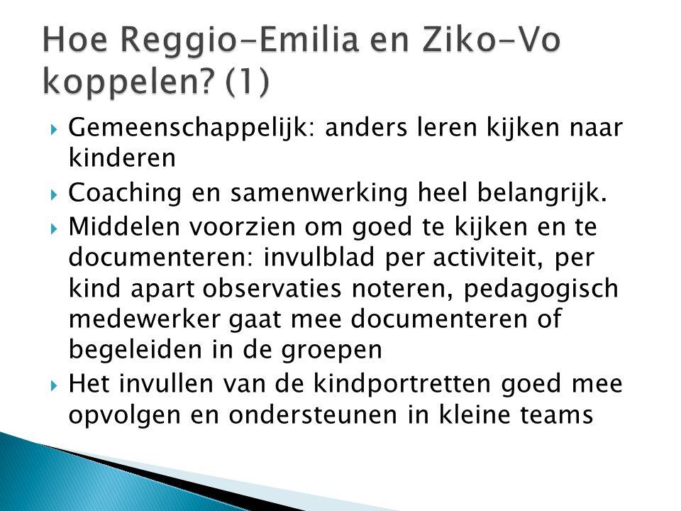 Hoe Reggio-Emilia en Ziko-Vo koppelen (1)