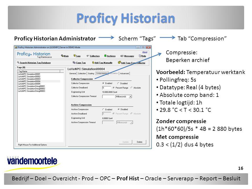 Proficy Historian Proficy Historian Administrator Scherm Tags