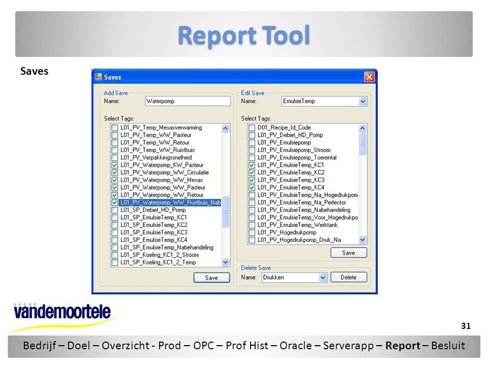 Report Tool Saves.