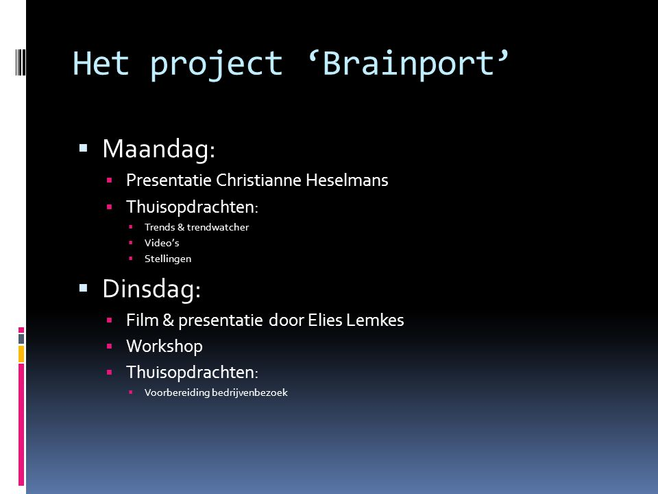 Het project 'Brainport'