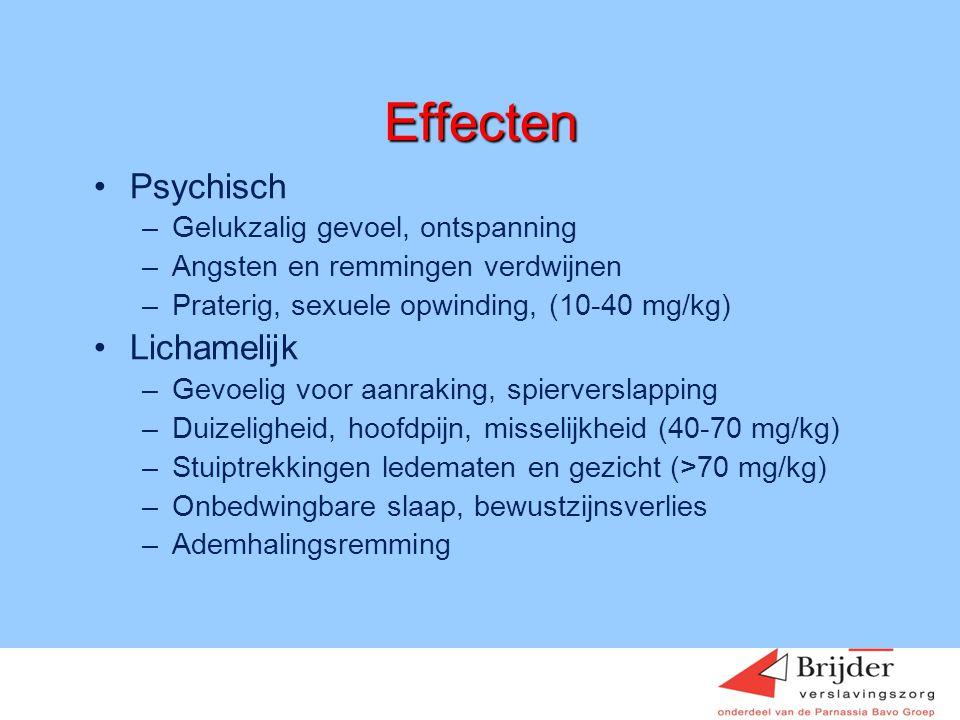 Effecten Psychisch Lichamelijk Gelukzalig gevoel, ontspanning