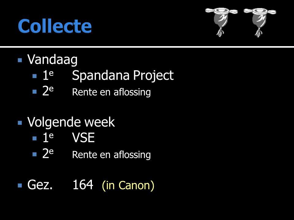 Collecte Vandaag 1e Spandana Project 2e Rente en aflossing