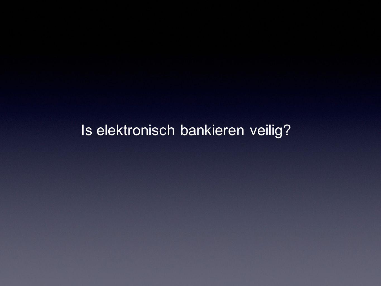 Is elektronisch bankieren veilig