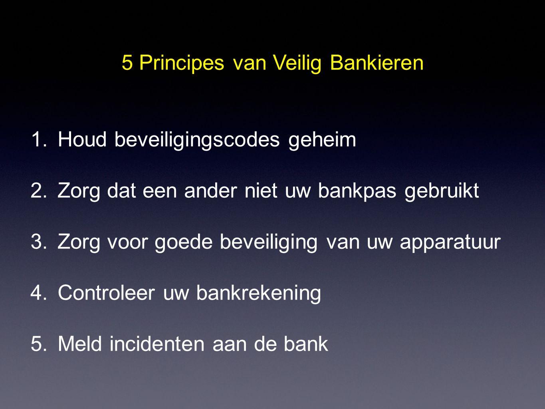 5 Principes van Veilig Bankieren