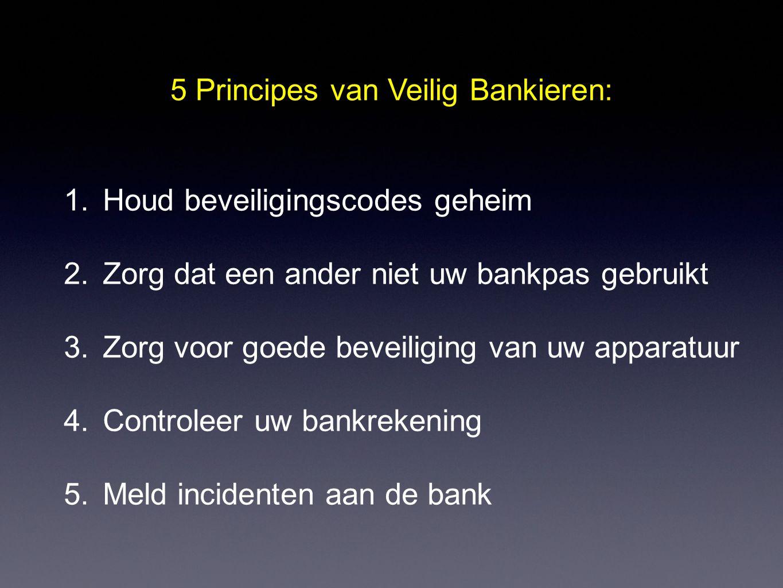 5 Principes van Veilig Bankieren:
