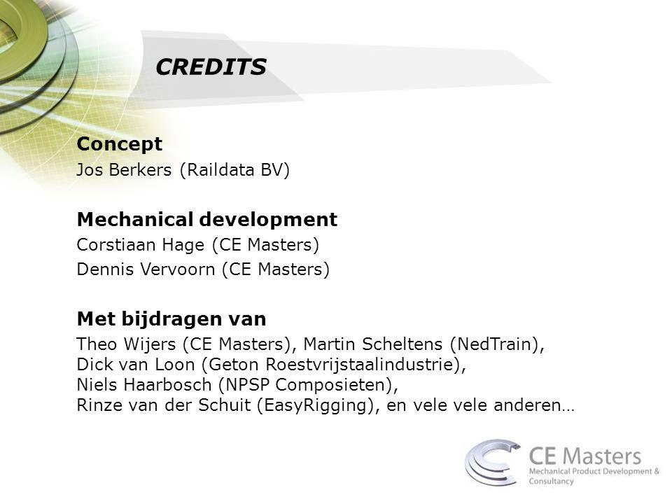 CREDITS Concept Mechanical development Met bijdragen van