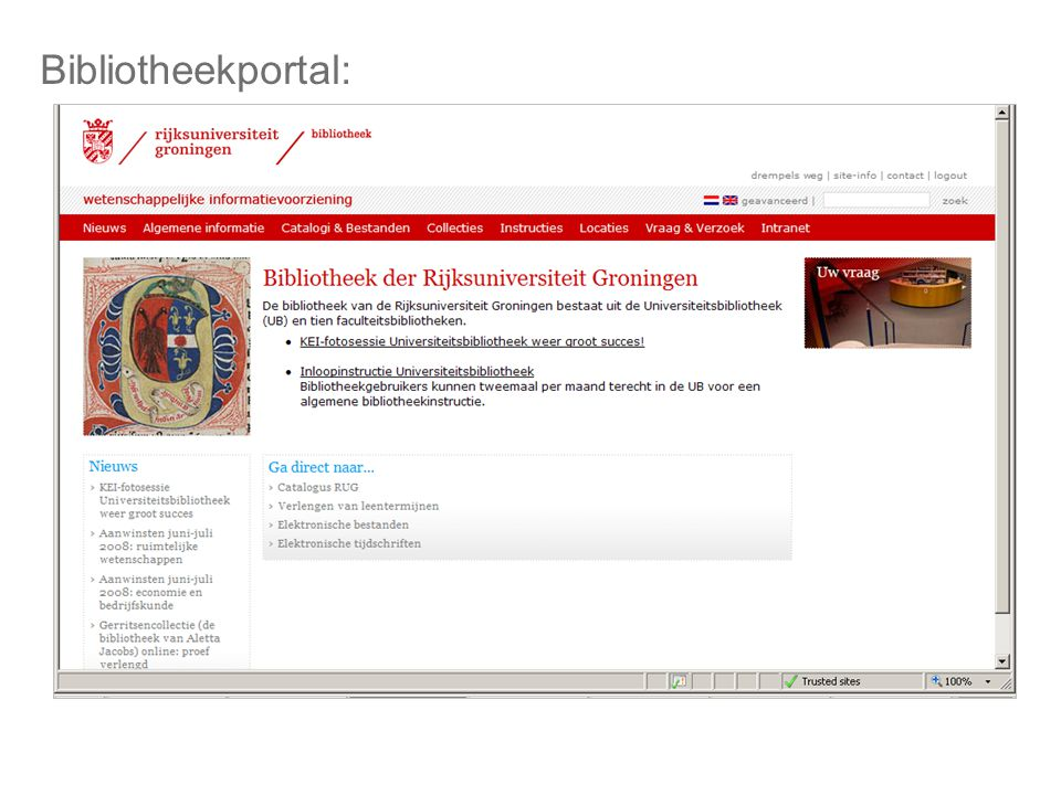 Bibliotheekportal: BIBLIOTHEEKPORTAL