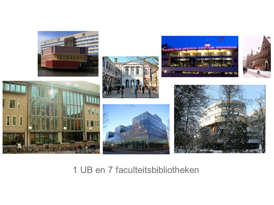 1 UB en 7 faculteitsbibliotheken