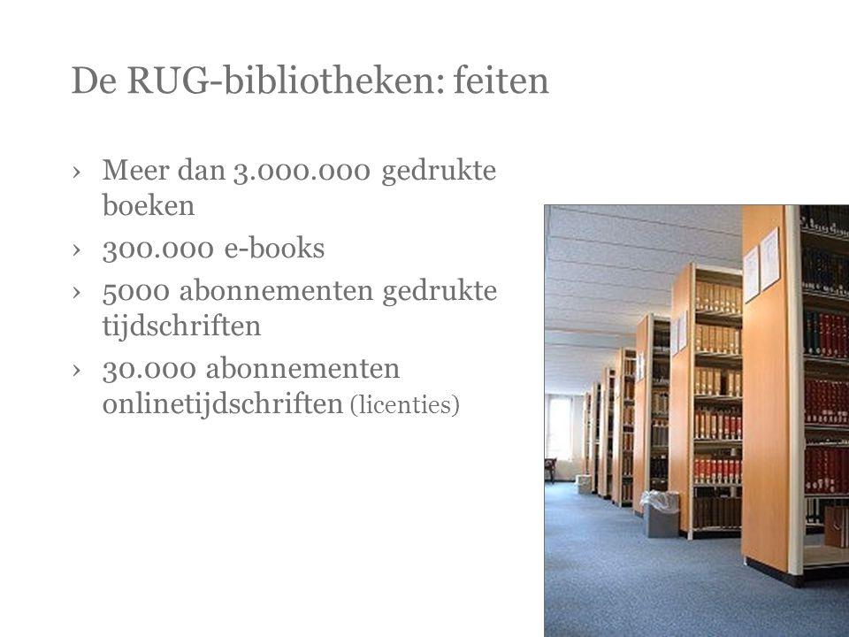 De RUG-bibliotheken: feiten