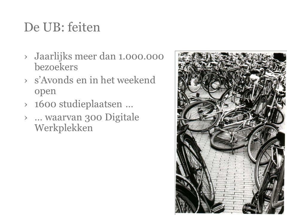 De UB: feiten Jaarlijks meer dan 1.000.000 bezoekers