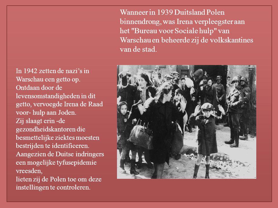 Wanneer in 1939 Duitsland Polen binnendrong, was Irena verpleegster aan