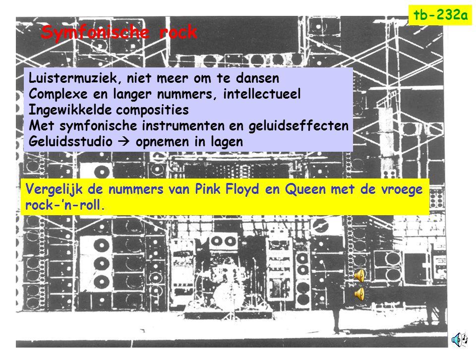 Symfonische rock tb-232a Luistermuziek, niet meer om te dansen
