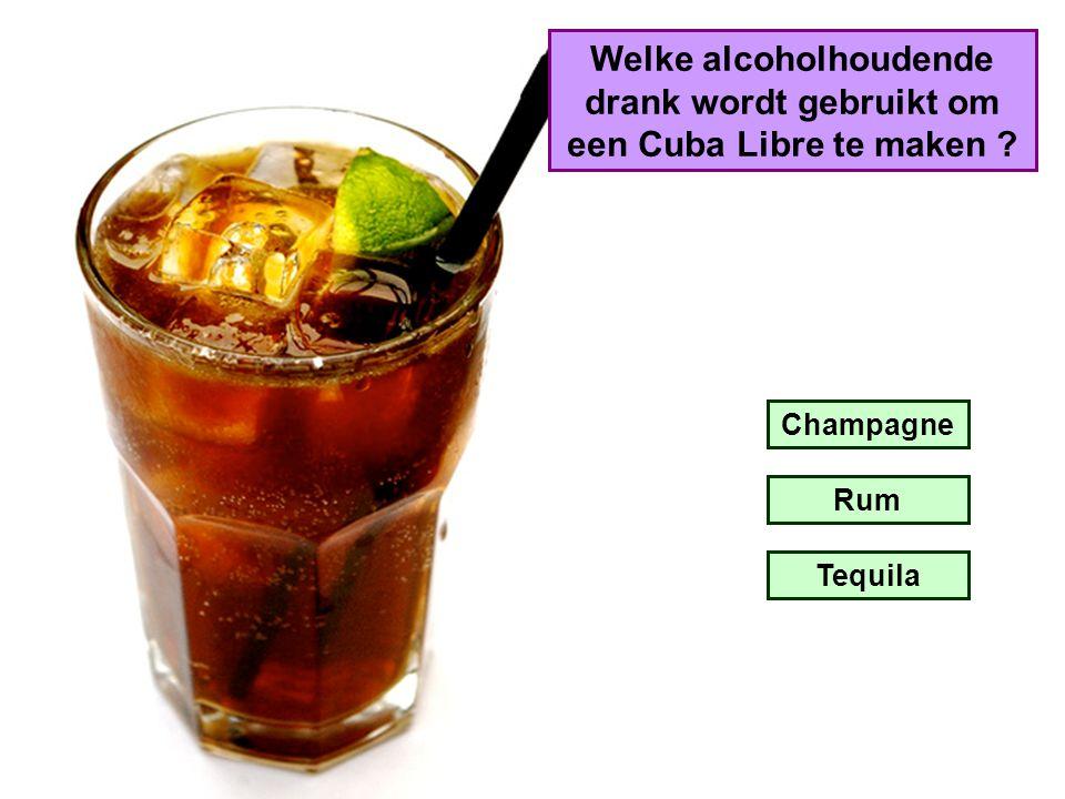 Welke alcoholhoudende drank wordt gebruikt om een Cuba Libre te maken