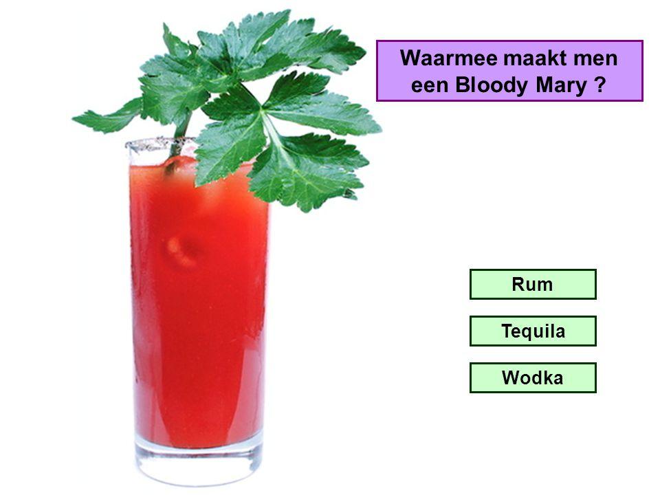 Waarmee maakt men een Bloody Mary