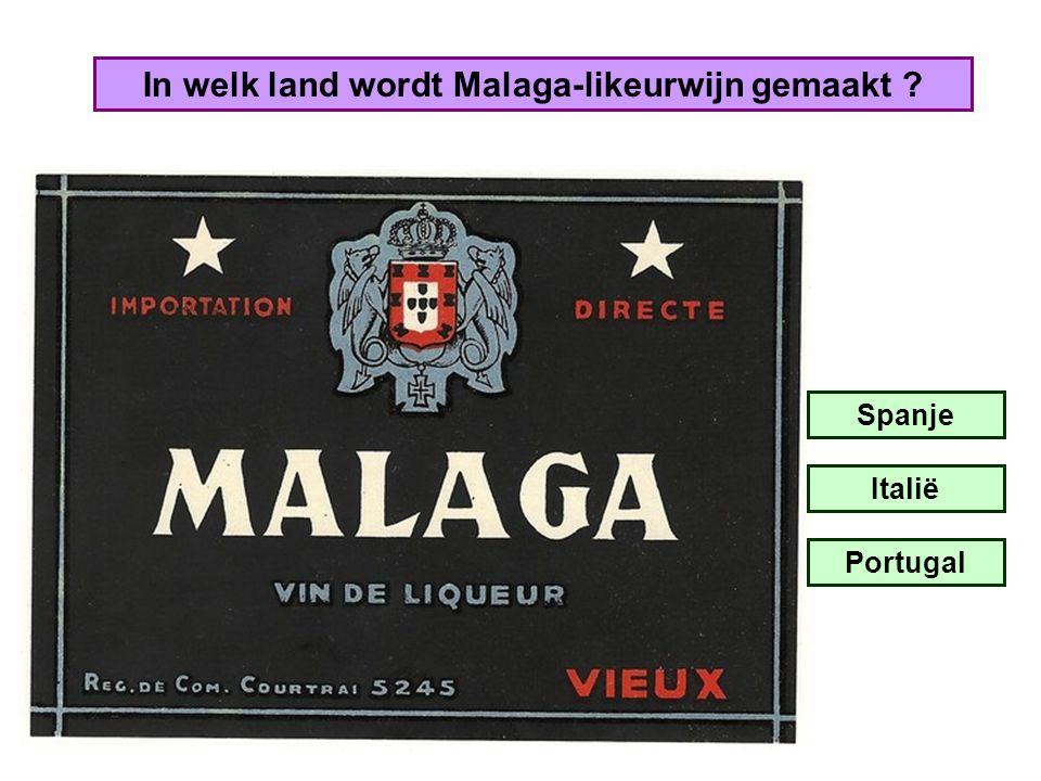 In welk land wordt Malaga-likeurwijn gemaakt