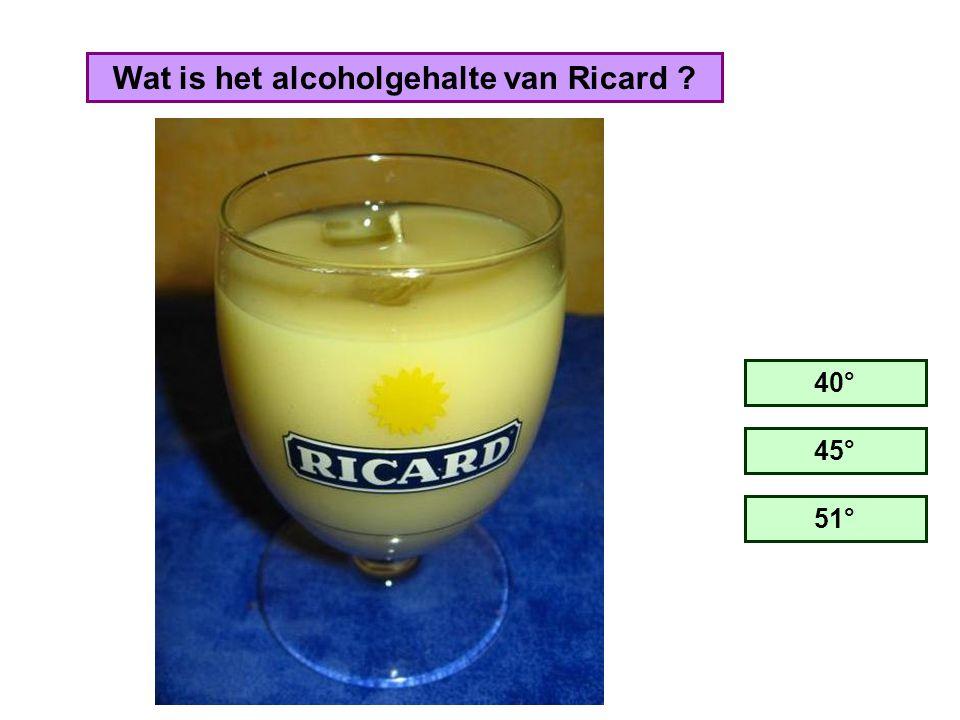 Wat is het alcoholgehalte van Ricard