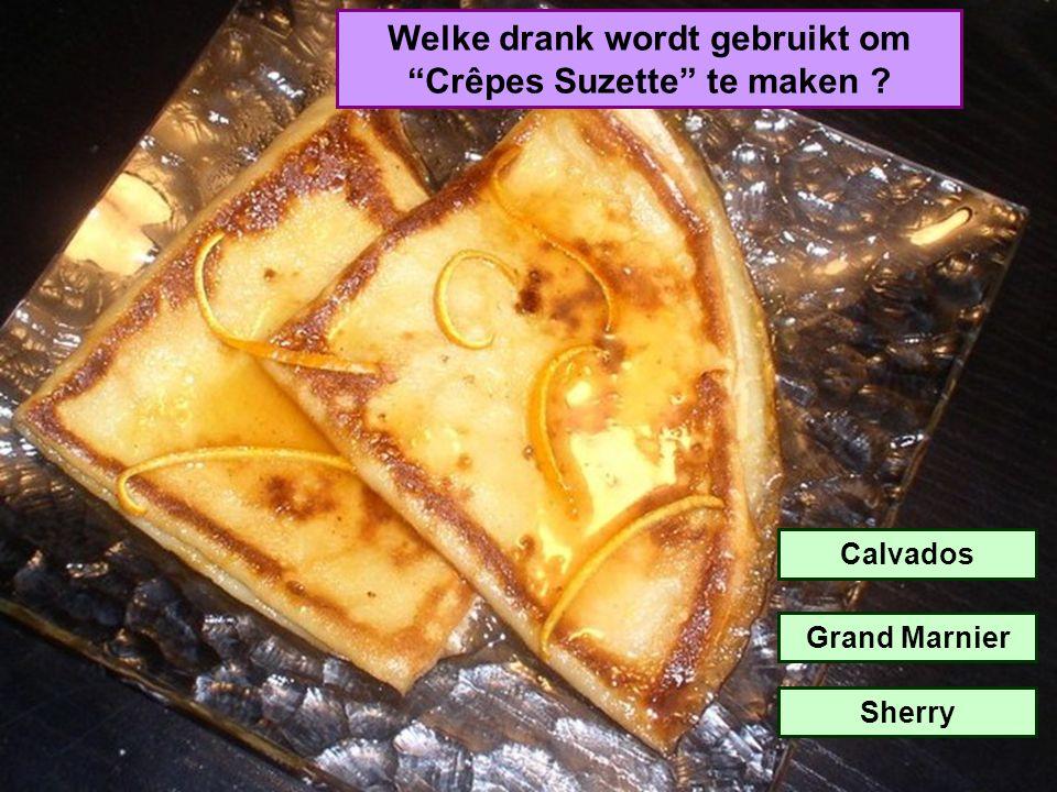 Welke drank wordt gebruikt om Crêpes Suzette te maken
