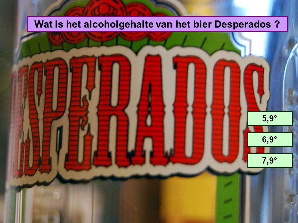 Wat is het alcoholgehalte van het bier Desperados