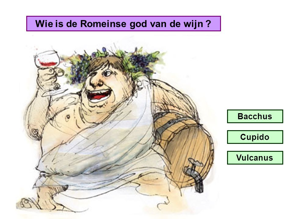 Wie is de Romeinse god van de wijn