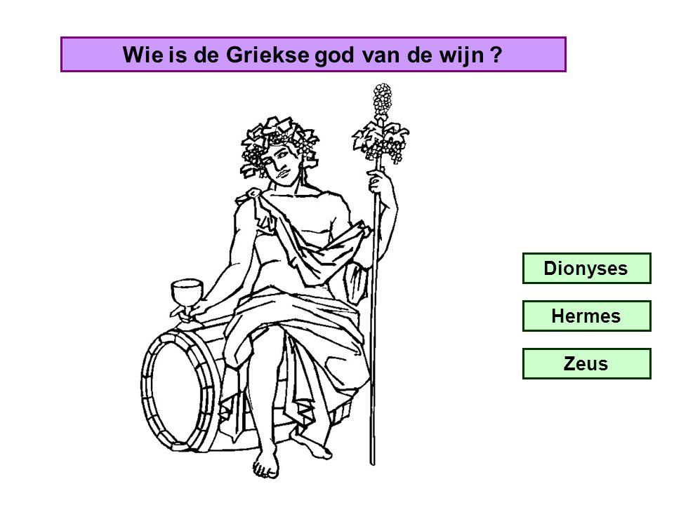 Wie is de Griekse god van de wijn