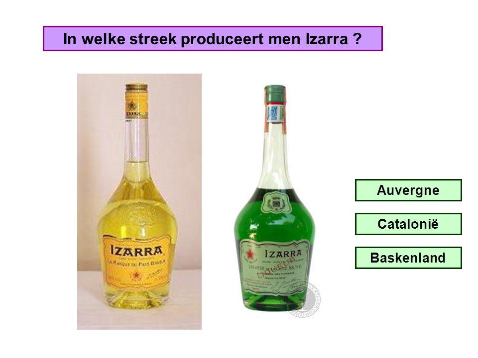 In welke streek produceert men Izarra