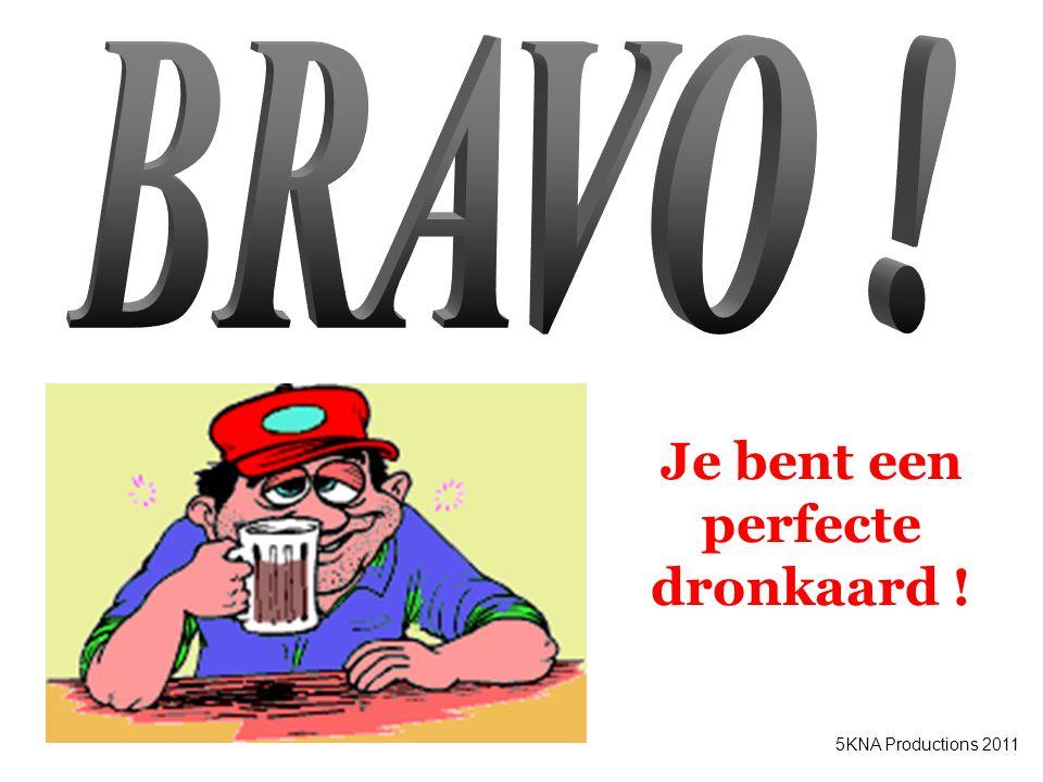 Je bent een perfecte dronkaard !