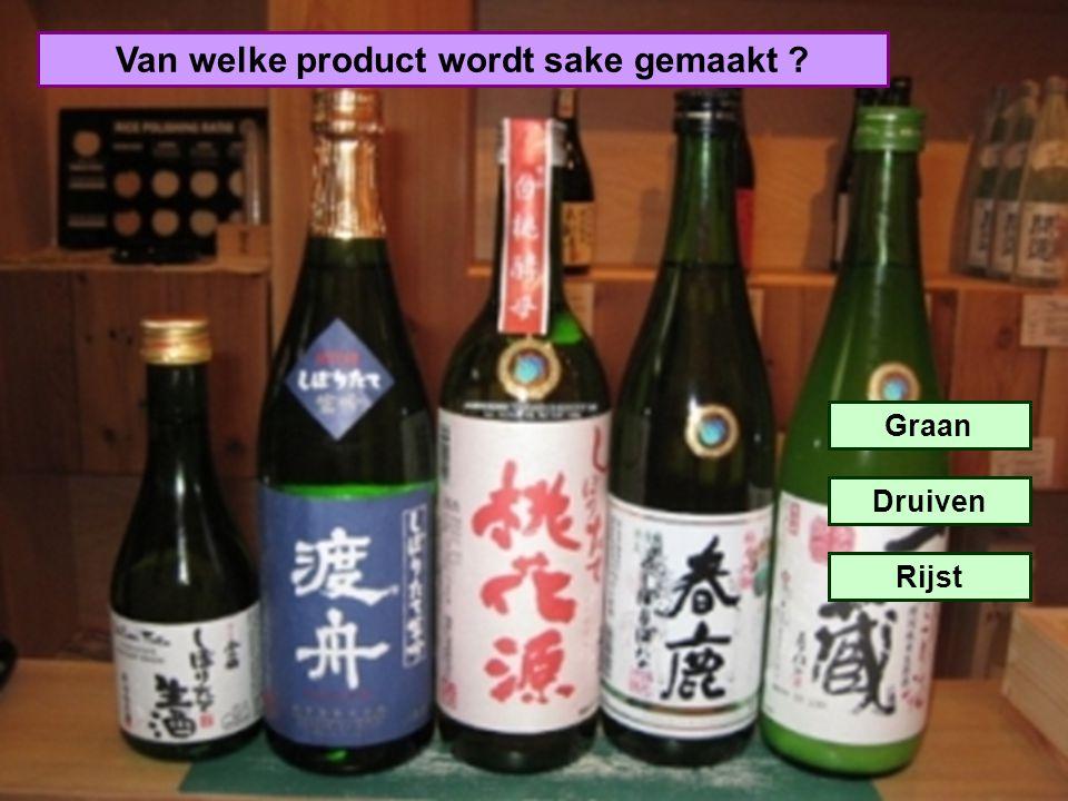 Van welke product wordt sake gemaakt