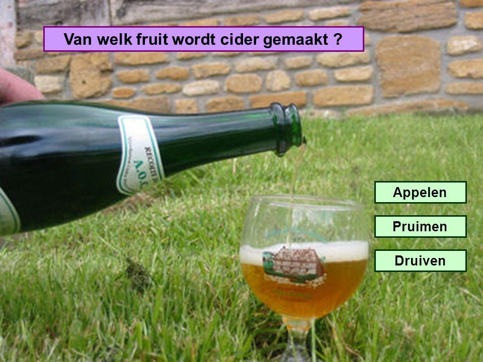 Van welk fruit wordt cider gemaakt