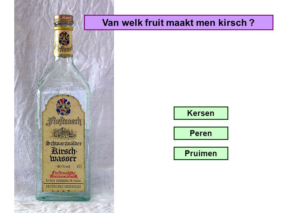 Van welk fruit maakt men kirsch