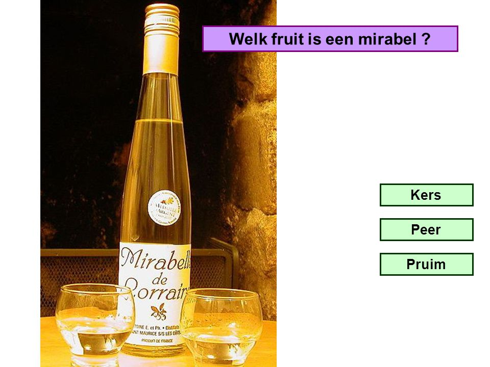 Welk fruit is een mirabel