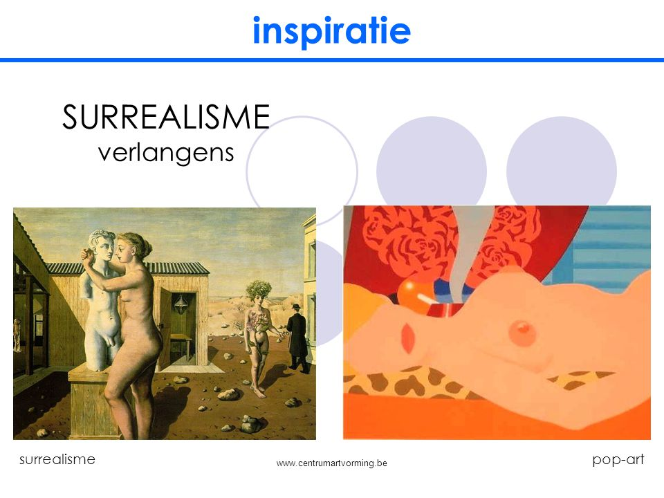 inspiratie SURREALISME verlangens surrealisme pop-art