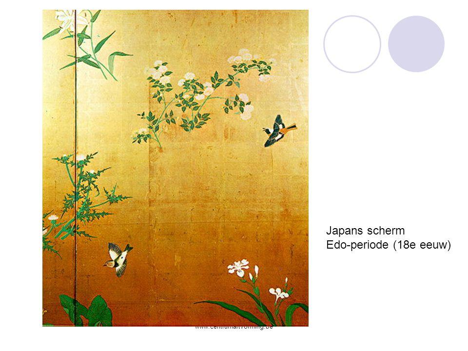 Japans scherm Edo-periode (18e eeuw) www.centrumartvorming.be