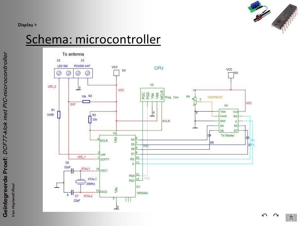 Schema: microcontroller