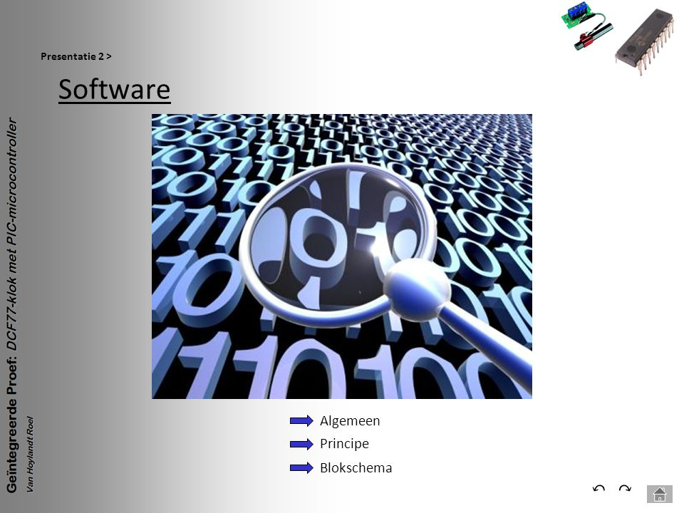 Presentatie 2 > Software Algemeen Principe Blokschema ⃔ ⃕