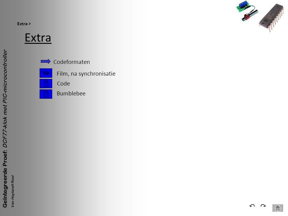 Extra ⃔ ⃕ Codeformaten Film, na synchronisatie Code Bumblebee