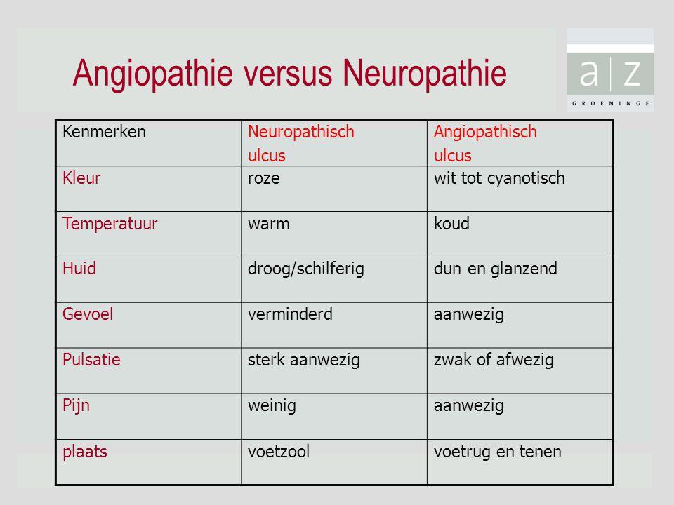 Angiopathie versus Neuropathie