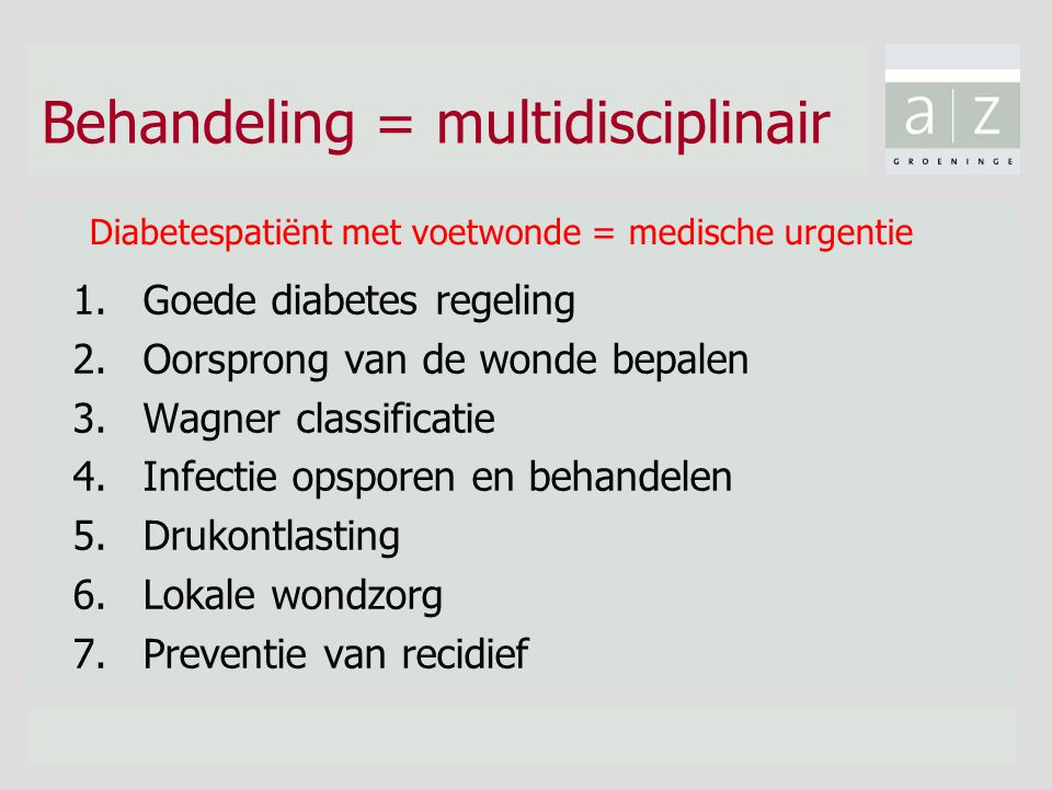 Behandeling = multidisciplinair