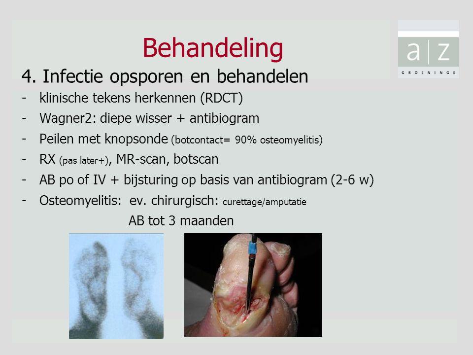 Behandeling 4. Infectie opsporen en behandelen