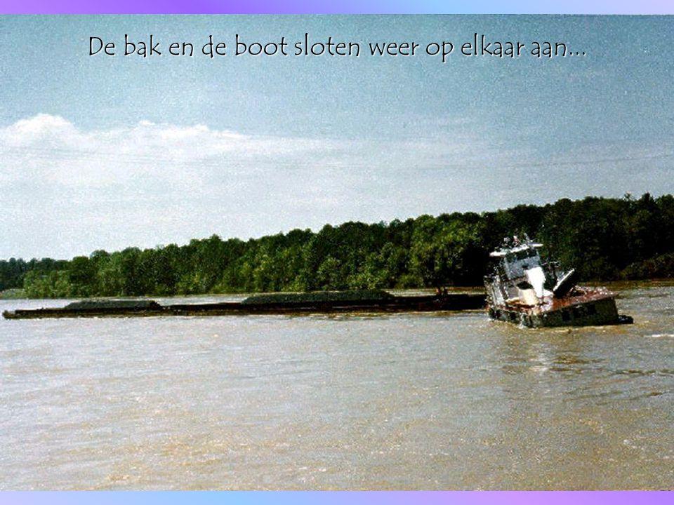 De bak en de boot sloten weer op elkaar aan...
